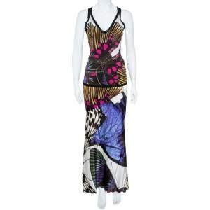 Roberto Cavalli  Multicolor Silk Skirt and Top Set M