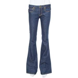 Roberto Cavalli Indigo Dark Wash Denim Flared Jeans S