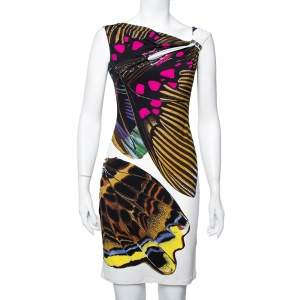 Roberto Cavalli Multicolor Printed Knit Sleeveless Sheath Dress S