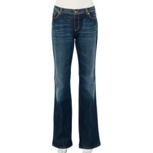 Roberto Cavalli Navy Blue Denim Straight Leg Jeans XL