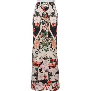 Roberto Cavalli Multicolor Printed Silk Satin Maxi Skirt M