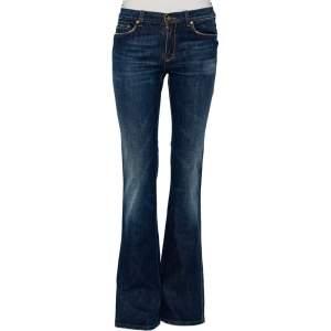 Roberto Cavalli Blue Faded Effect Denim Jeans S