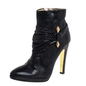 حذاء بوت كاحل روبرتو كاافاي نوبوك أسود مقاس 40.5