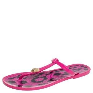 Roberto Cavalli Pink Jelly Thong Flats Size 40