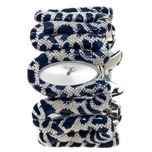 Roberto Cavalli Silver Stainless Steel Cleopatra R7253195635 Women's Wristwatch 40 mm