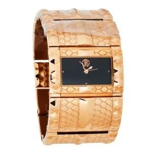 Roberto Cavalli Black Rose Gold Stainless Steel Keira 7253272715 Women's Wristwatch 38 MM