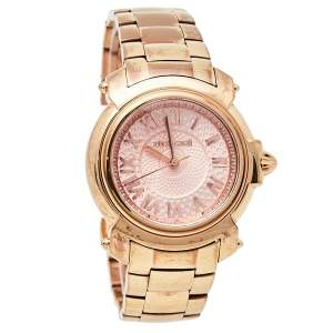 Roberto Cavalli By Franck Muller Rose Gold Tone Stainless Steel 1L005 Women's Wristwatch 35 mm