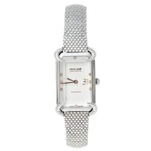 Roberto Cavalli By Franck Muller Silver Stainless Steel Diamonds 2L003 Women's Wristwatch 21 mm