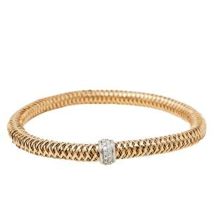 Roberto Coin Primavera Diamond 18K Two Tone Gold Bracelet