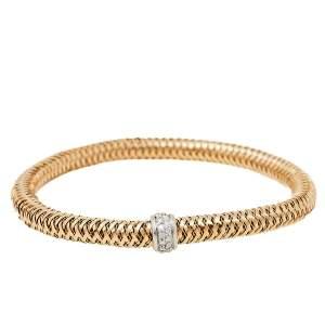 Roberto Coin Primavera Diamond 18K Two Tone Gold Bracelet
