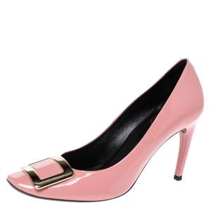 Roger Vivier Pink Patent Leather Trompette Pumps Size 40