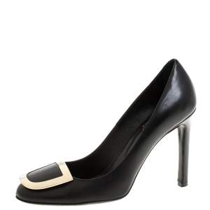 Roger Vivier Black Leather Pumps Size 37.5