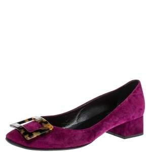 Roger Vivier Purple Suede Belle Vivier Pumps Size 38.5