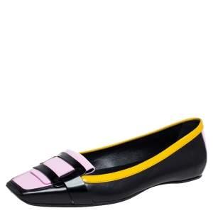 Roger Vivier Multicolor Patent Leather Ballet Flats Size 37