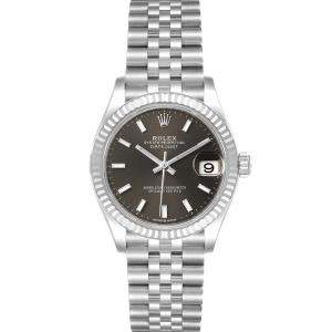 Rolex Slate 18K White Gold And Stainless Steel Datejust 278274 Women's Wristwatch 31 MM