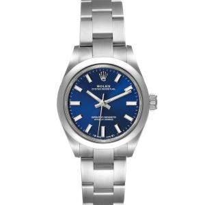 ساعة يد رجالية رولكس أويستر بربيتشوال 276200 ستانلس ستيل زرقاء 28مم
