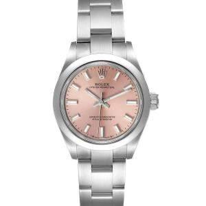 ساعة يد نسائية رولكس أويستر بربيتشوال 276200 ستانلس ستيل سلمون 28 مم