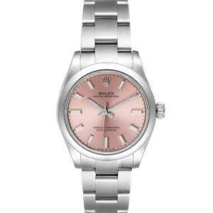 ساعة يد نسائية رولكس أويستر بيربتشوال 277200 ستانلس ستيل وردية 31 مم
