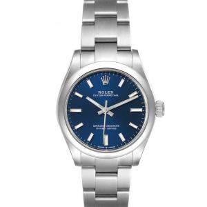 ساعة يد نسائية رولكس أويستر بيربتشوال 277200 ستانلس ستيل زرقاء 31مم