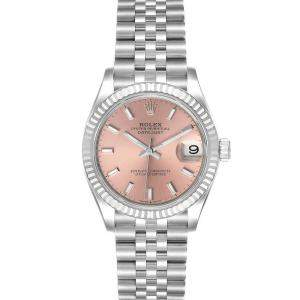 Rolex Pink 18K White Gold And Stainless Steel Datejust 278274 Women's Wristwatch 31 MM