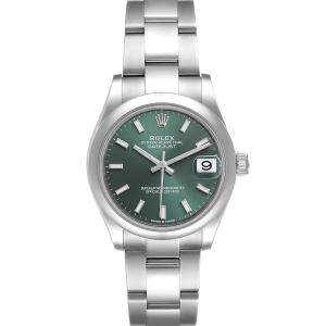 Rolex Green Stainless Steel Datejust 278240 Women's Wristwatch 31 MM