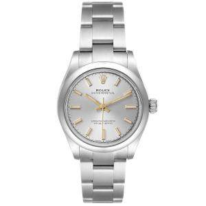Rolex Silver Stainless Steel Oyster Perpetual Automatic 277200 Women's Wristwatch 31 MM