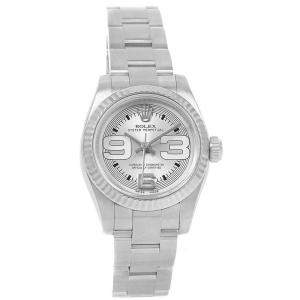 Rolex Silver 18K White Gold and Stainless Steel Non Date 176234 Women's Wristwatch 26MM