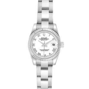 Rolex White 18K White Gold and Stainless Steel Datejust 179174 Women's Wristwatch 26MM