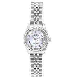Rolex MOP Diamond and Stainless Steel Datejust 179384 Women's Wristwatch 26MM