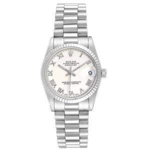 Rolex White 18K White Gold President Datejust 68279 Women's Wrisiwatch 31 MM