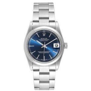 Rolex Blue Stainless Steel Datejust 78240 Women's Wristwatch 31MM