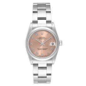 Rolex Salmon Stainless Steel Datejust 68240 Women's Wristwatch 31MM