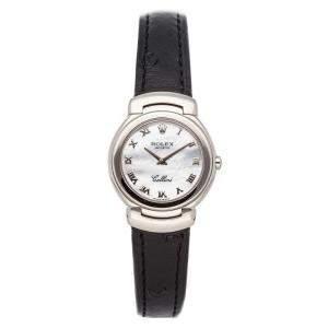 Rolex MOP 18K White Gold Cellini 6621/9 Women's Wristwatch 26 MM