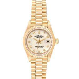 Rolex Ivory 18K Yellow Gold President Datejust 69178 Women's Wristwatch 26MM