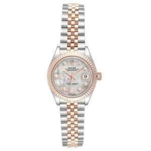 Rolex MOP Diamonds 18K Rose Gold And Stainless Steel Datejust 279171 Women's Wristwatch 28 MM