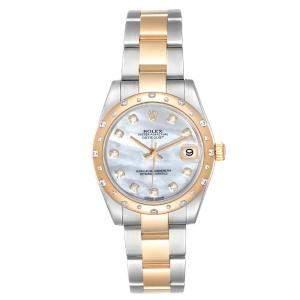 Rolex MOP Diamonds 18K Yellow Gold And Stainless Steel Datejust 178243 Women's Wristwatch 31 MM