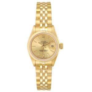 Rolex Champagne 18K Yellow Gold Datejust President 69178 Women's Wristwatch 26 MM