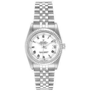 Rolex White 18K White Gold And Stainless Steel Datejust 68274 Women's Wristwatch 31 MM