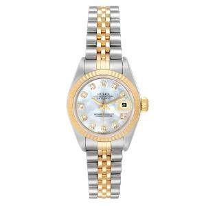 Rolex MOP Diamonds 18K Yellow Gold And Stainless Steel Datejust 79173 Women's Wristwatch 26 MM