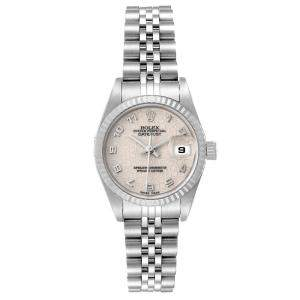 Rolex Silver 18K White Gold And Stainless Steel Datejust 79174 Automatic Women's Wristwatch 26 MM