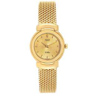 Rolex Champagne 18K Yellow Gold Cellini 6621 Women's Wristwatch 26 MM