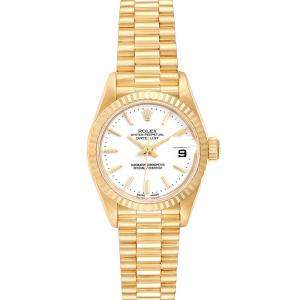 Rolex White 18k Yellow Gold President Datejust 79178 Women's Wristwatch 26 MM