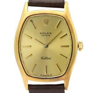 Rolex Champagne 18K Yellow Gold Cellini 3803 Women's Wristwatch 23 MM