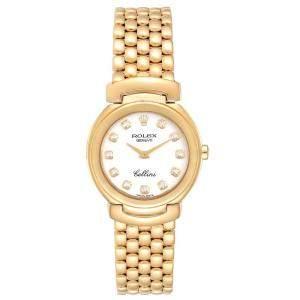 """ساعة يد نسائية رولكس """"سيليني 6621"""" ذهب أصفر عيار 18 و ألماس بيضاء 26 مم"""
