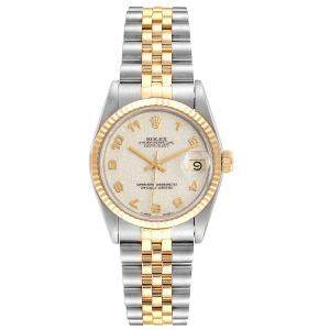 Rolex Silver 18K Yellow Gold And Stainless Steel Datejust 68273 Women's Wristwatch 31 MM