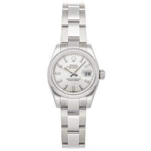Rolex Silver Stainless Steel Datejust 179160 Women's Wristwatch 26 MM