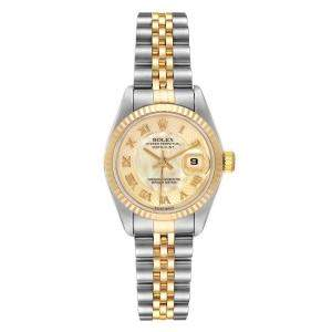 Rolex MOP 18K Yellow Gold And Stainless Steel Datejust 79173 Automatic Women's Wristwatch 26 MM