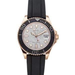Rolex Diamonds 18K Rose Gold Yacht-Master 268655 Women's Wristwatch 37 MM