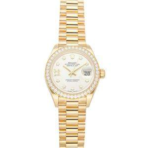 Rolex MOP Diamonds 18K Yellow Gold Datejust 279138RBR Women's Wristwatch 28 MM