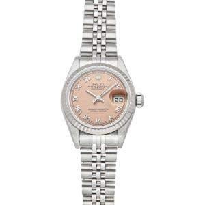 Rolex Salmon Stainless Steel Datejust 79174 Women's Wristwatch 26 MM